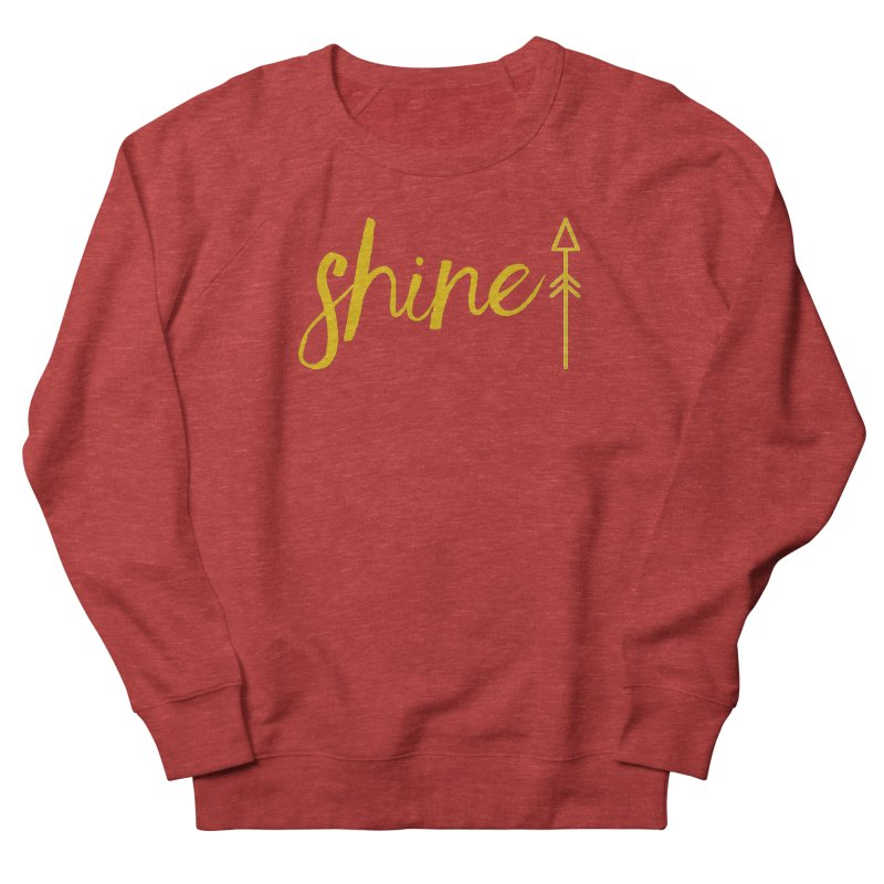 Shine Women's French Terry Sweatshirt by Crystalline Light