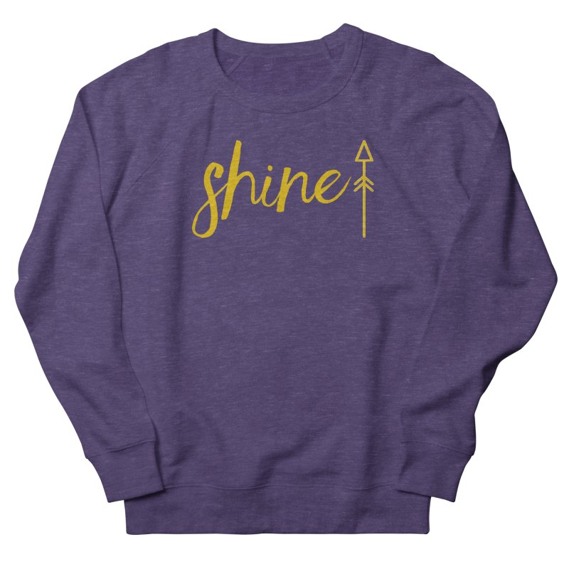 Shine Men's French Terry Sweatshirt by Crystalline Light