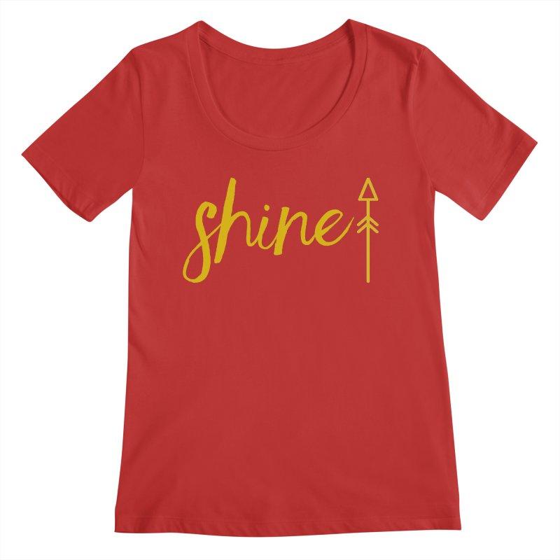 Shine Women's Regular Scoop Neck by Crystalline Light