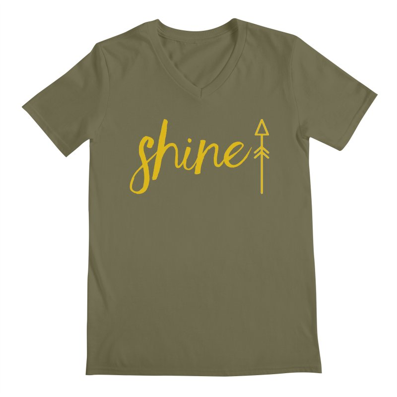 Shine Men's Regular V-Neck by Crystalline Light