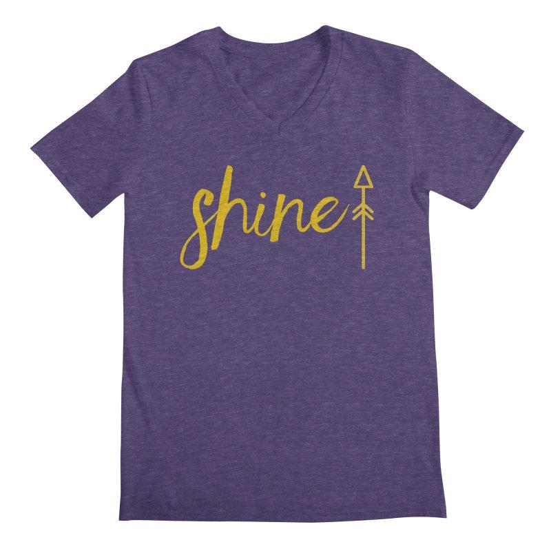 Shine Men's Regular V-Neck by Crystalline Light
