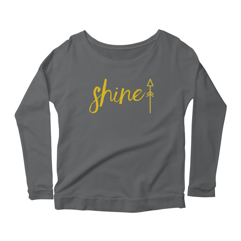 Shine Women's Scoop Neck Longsleeve T-Shirt by Crystalline Light