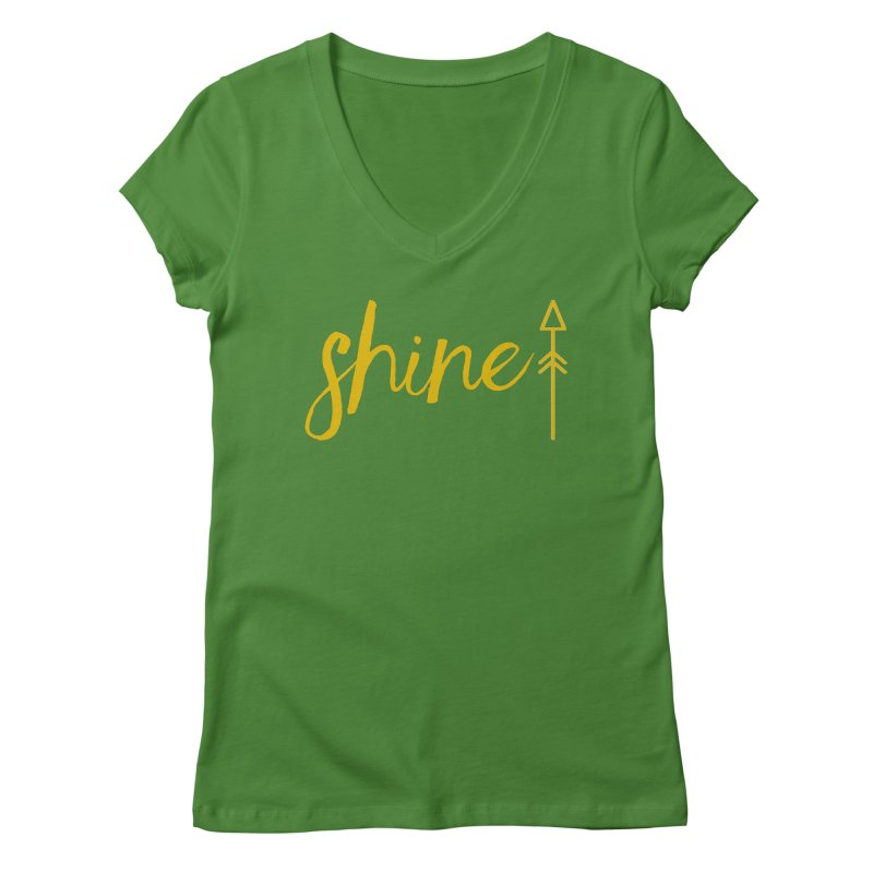 Shine Women's Regular V-Neck by Crystalline Light