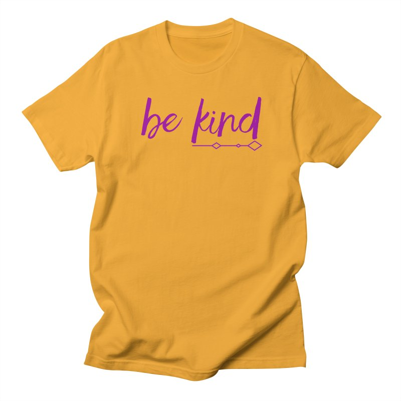 Be Kind Men's Regular T-Shirt by Crystalline Light