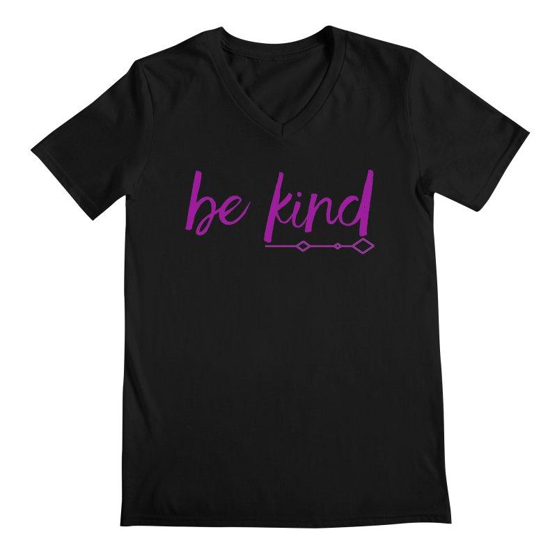 Be Kind Men's Regular V-Neck by Crystalline Light
