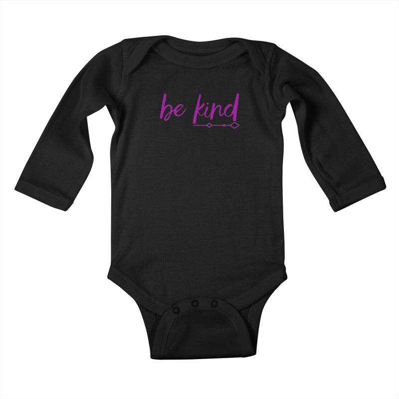 Be Kind Kids Baby Longsleeve Bodysuit by Crystalline Light