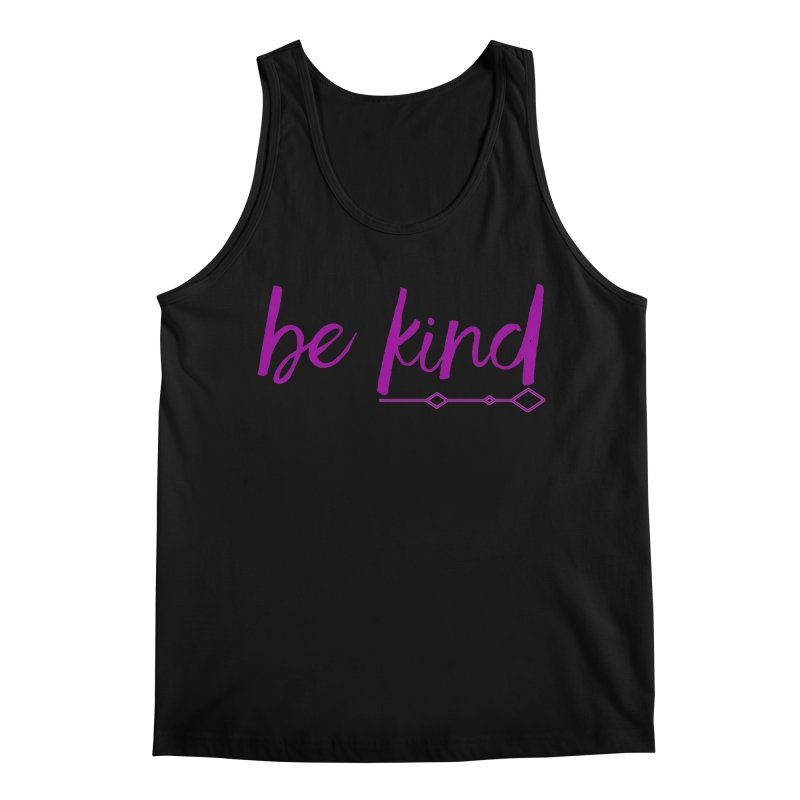 Be Kind Men's Regular Tank by Crystalline Light