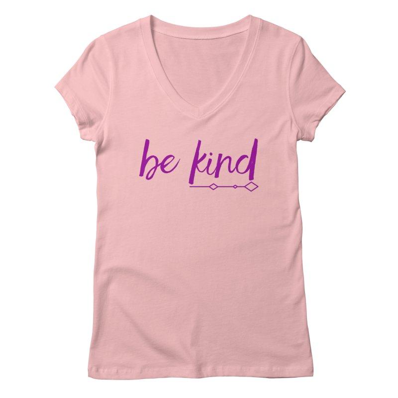 Be Kind Women's V-Neck by Crystalline Light