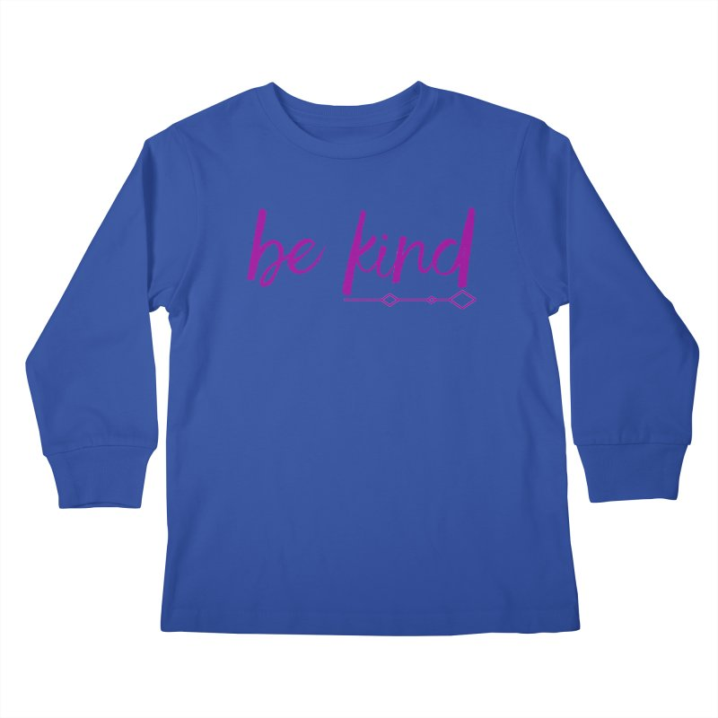 Be Kind Kids Longsleeve T-Shirt by Crystalline Light