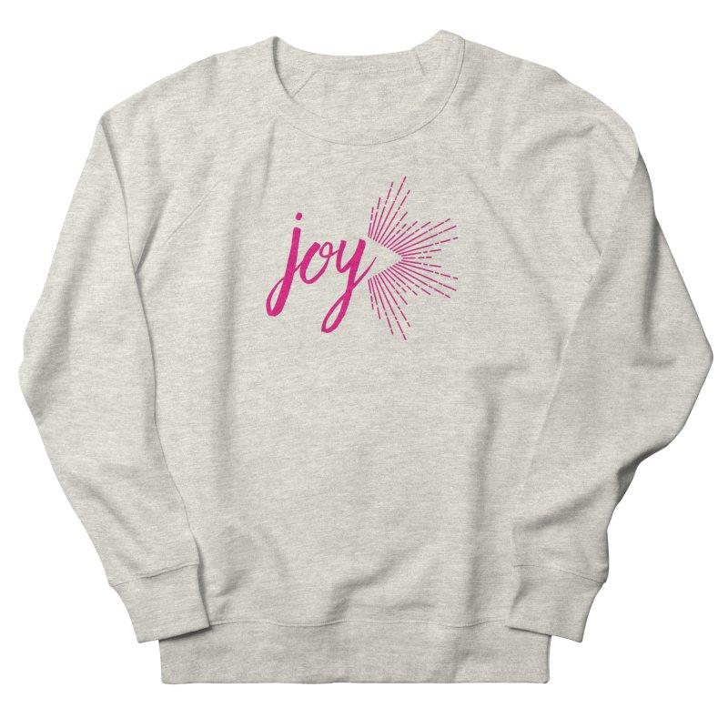 Joy Women's French Terry Sweatshirt by Crystalline Light