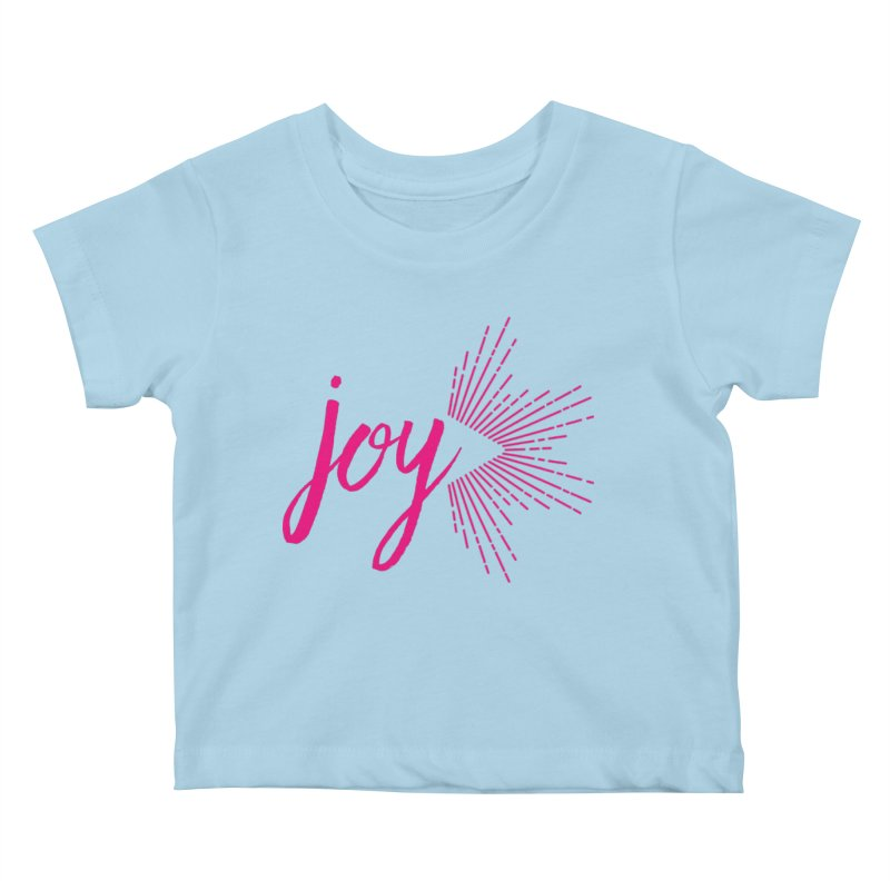 Joy Kids Baby T-Shirt by Crystalline Light