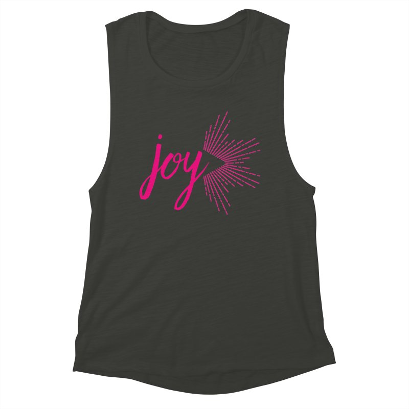 Joy Women's Muscle Tank by Crystalline Light