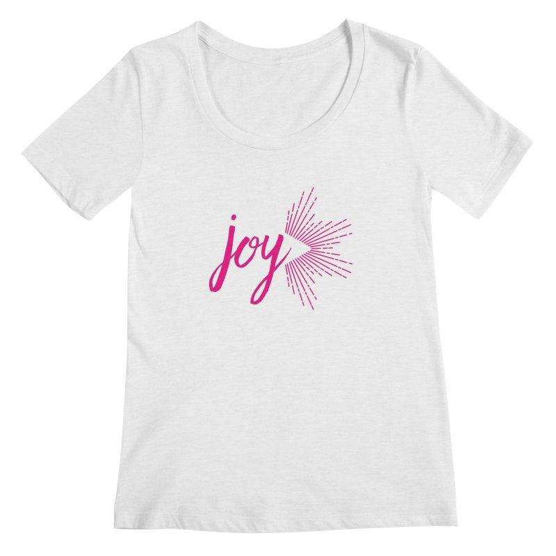 Joy Women's Regular Scoop Neck by Crystalline Light