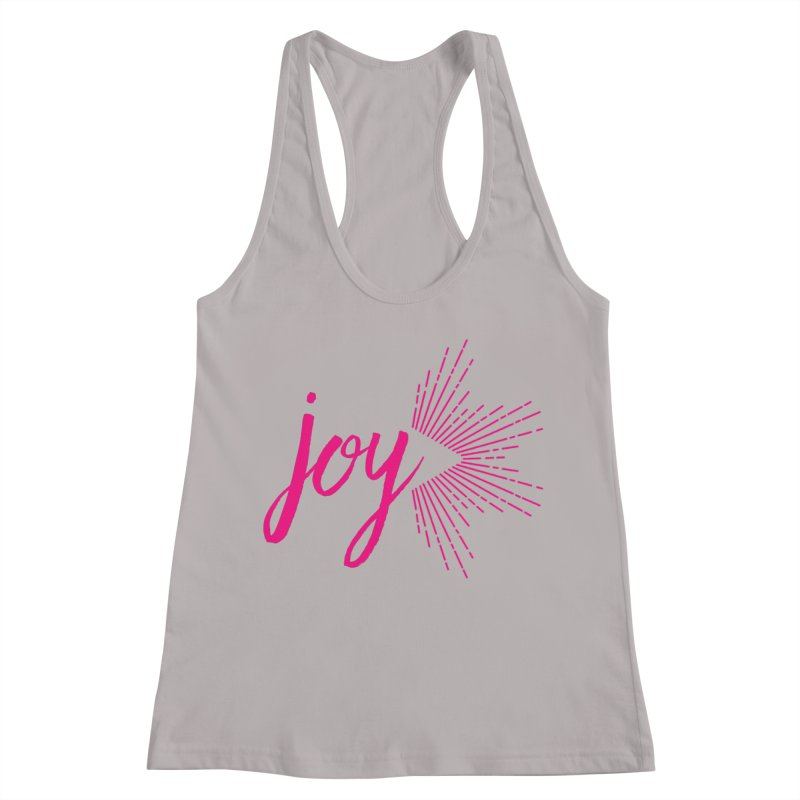 Joy Women's Racerback Tank by Crystalline Light
