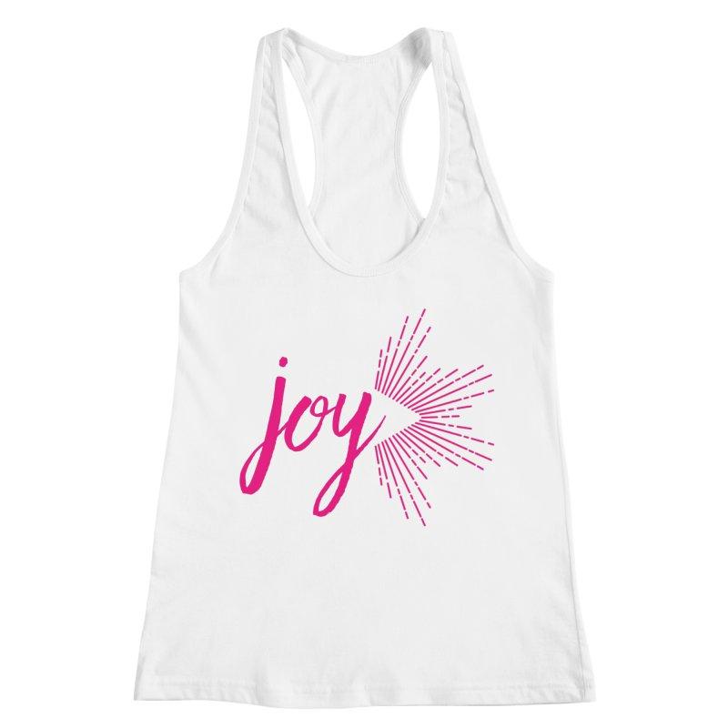 Joy Women's Racerback Tank by Crystalline Light