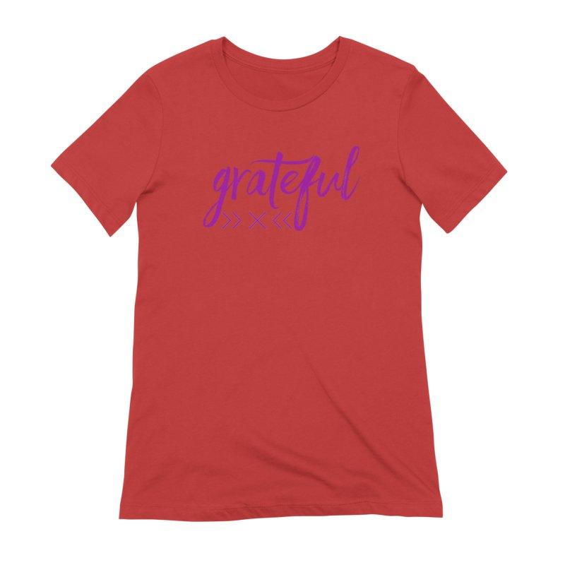 Grateful Women's Extra Soft T-Shirt by Crystalline Light