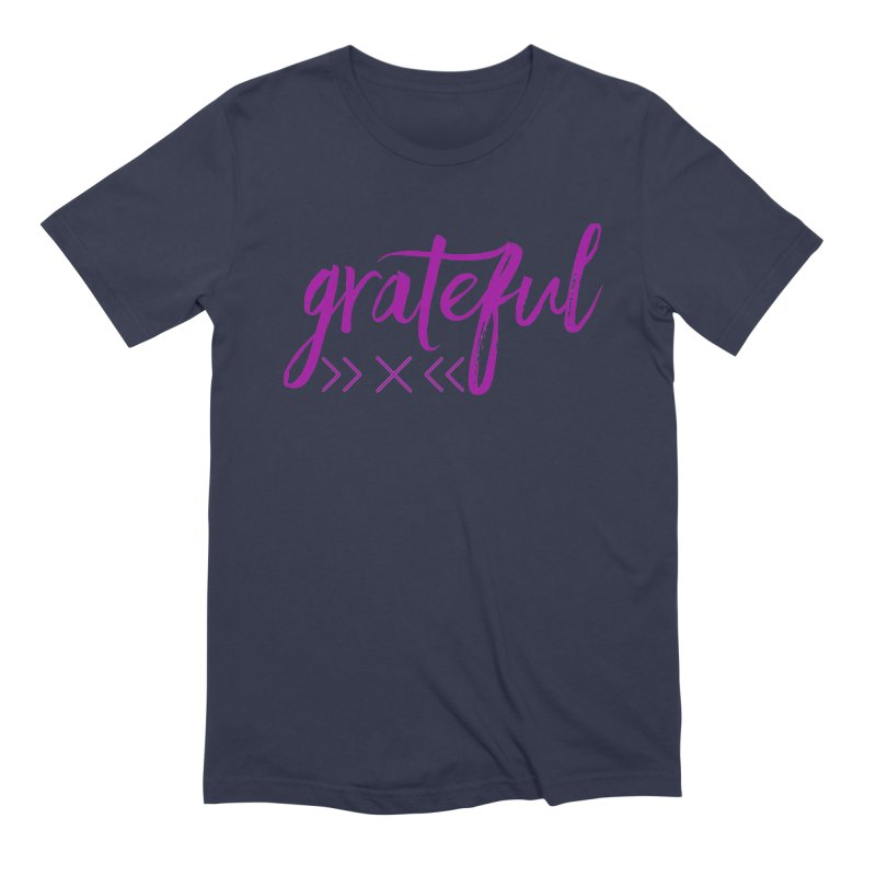Grateful Men's Extra Soft T-Shirt by Crystalline Light