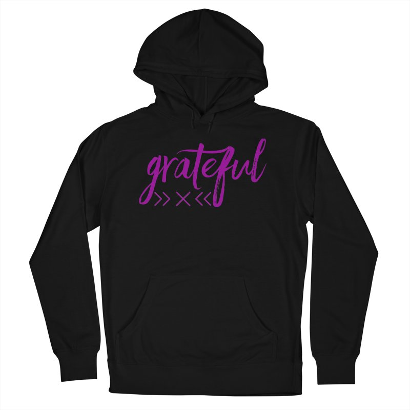 Grateful Women's French Terry Pullover Hoody by Crystalline Light