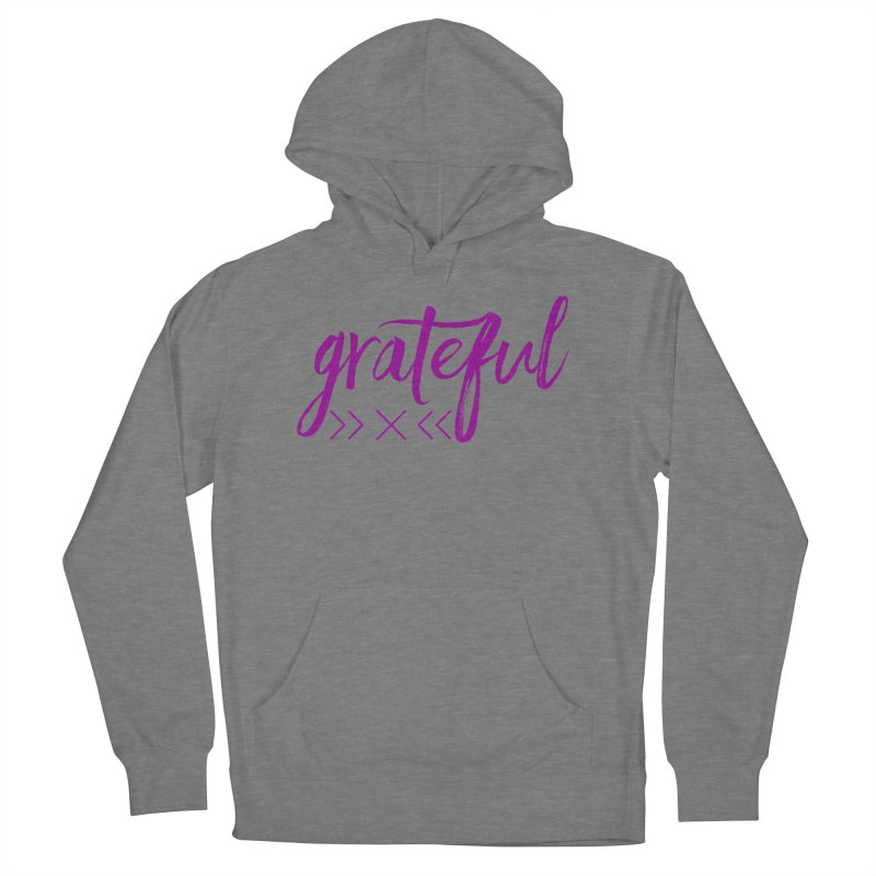 Grateful Men's French Terry Pullover Hoody by Crystalline Light