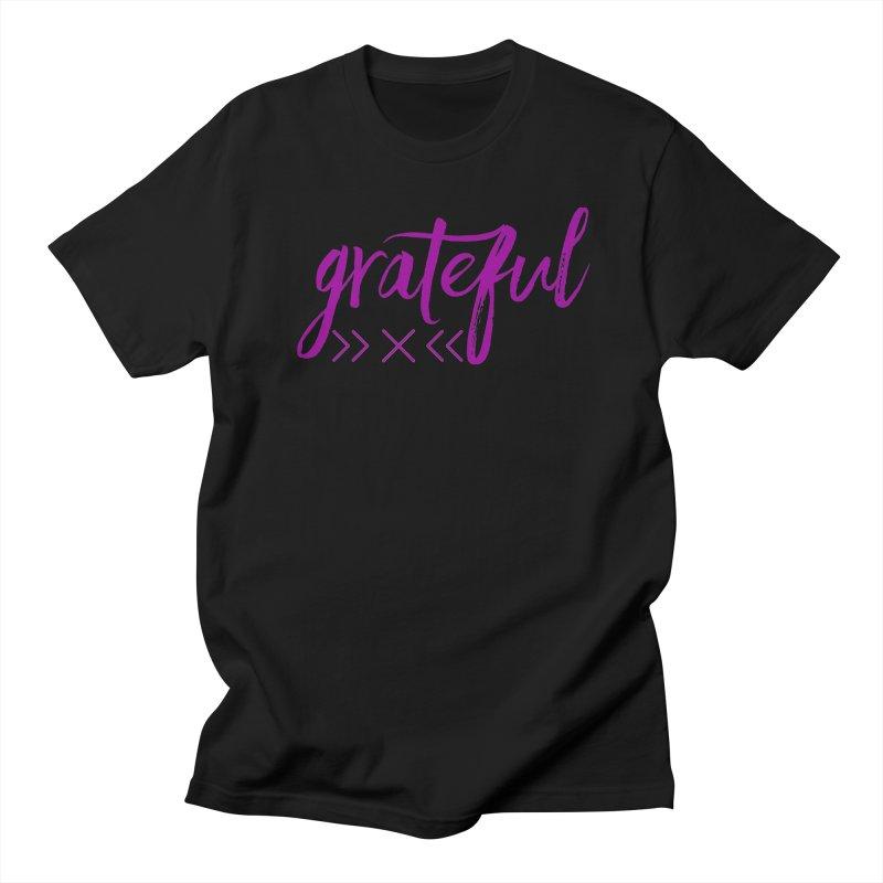 Grateful Women's Regular Unisex T-Shirt by Crystalline Light