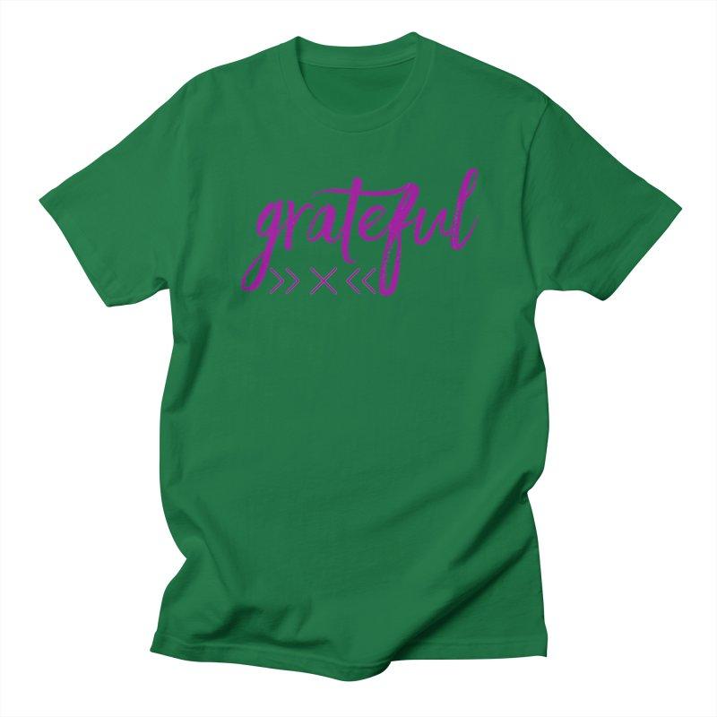 Grateful Men's Regular T-Shirt by Crystalline Light