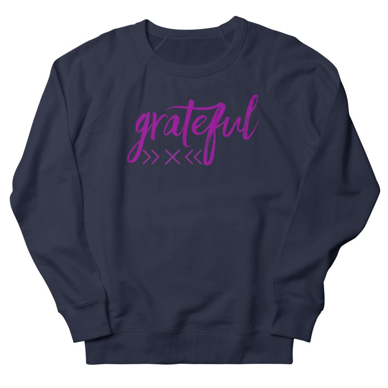 Grateful Women's French Terry Sweatshirt by Crystalline Light