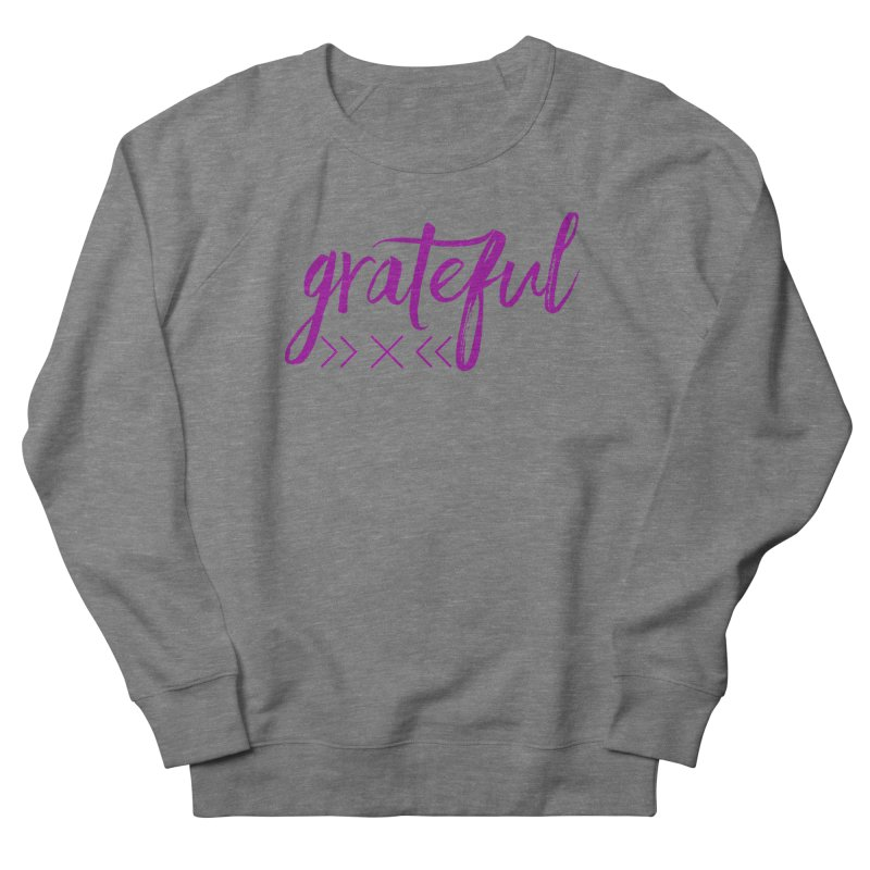 Grateful Men's French Terry Sweatshirt by Crystalline Light