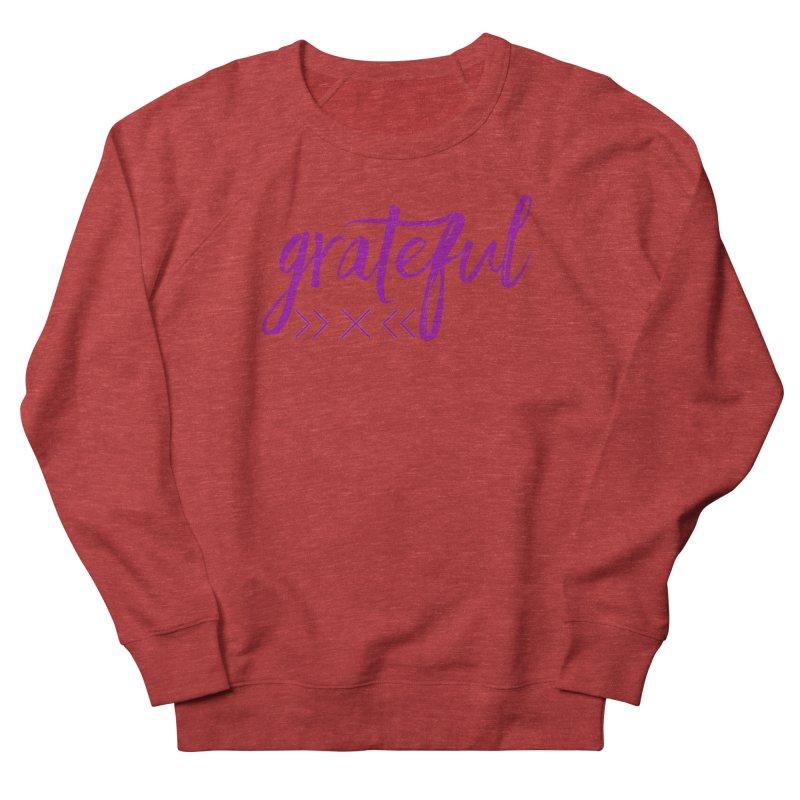 Grateful Men's French Terry Sweatshirt by Crystalline Light