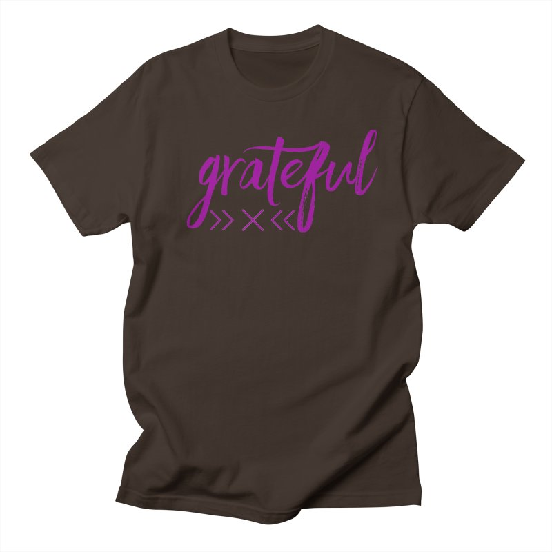 Grateful Men's Regular T-Shirt by Crystalline Light