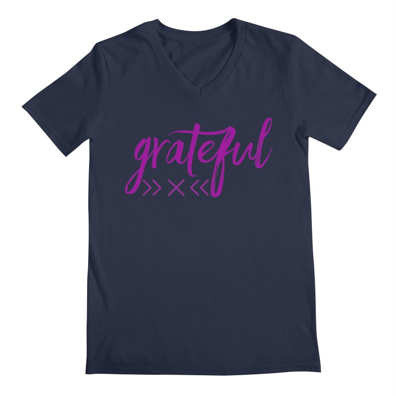 Grateful Men's Regular V-Neck by Crystalline Light