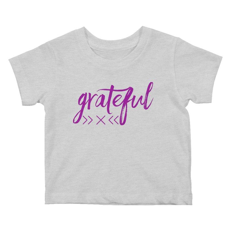 Grateful Kids Baby T-Shirt by Crystalline Light