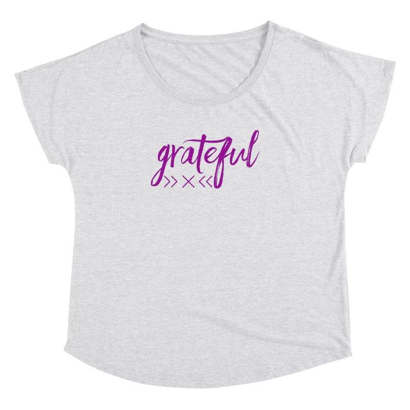 Grateful Women's Dolman Scoop Neck by Crystalline Light