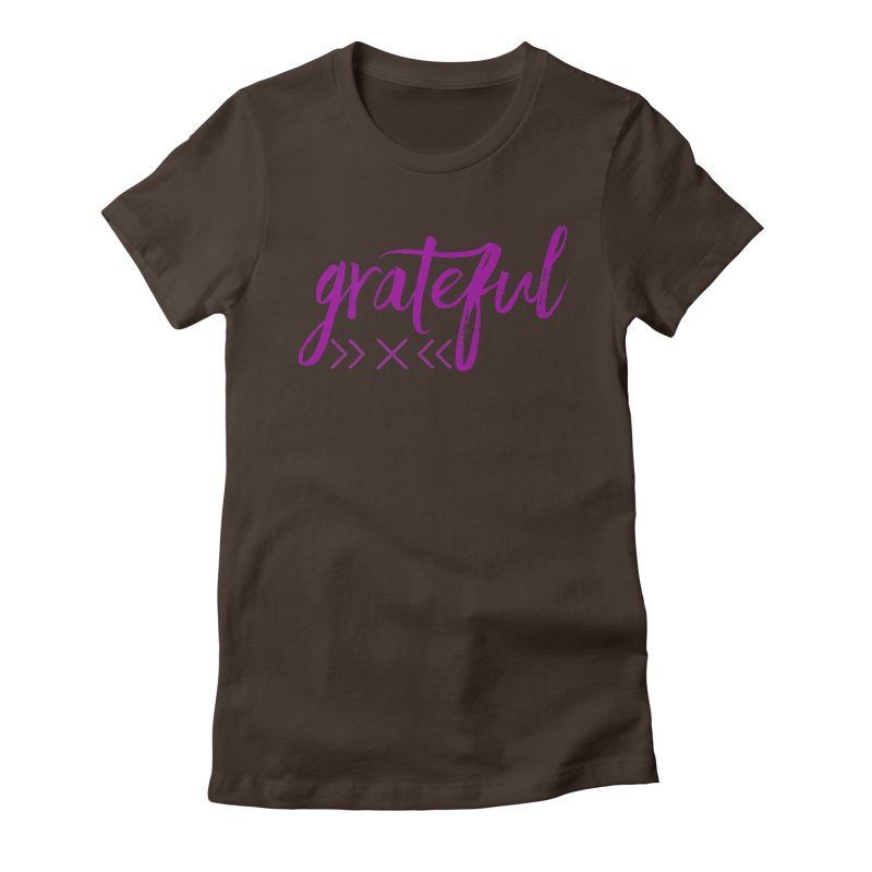 Grateful Women's Fitted T-Shirt by Crystalline Light