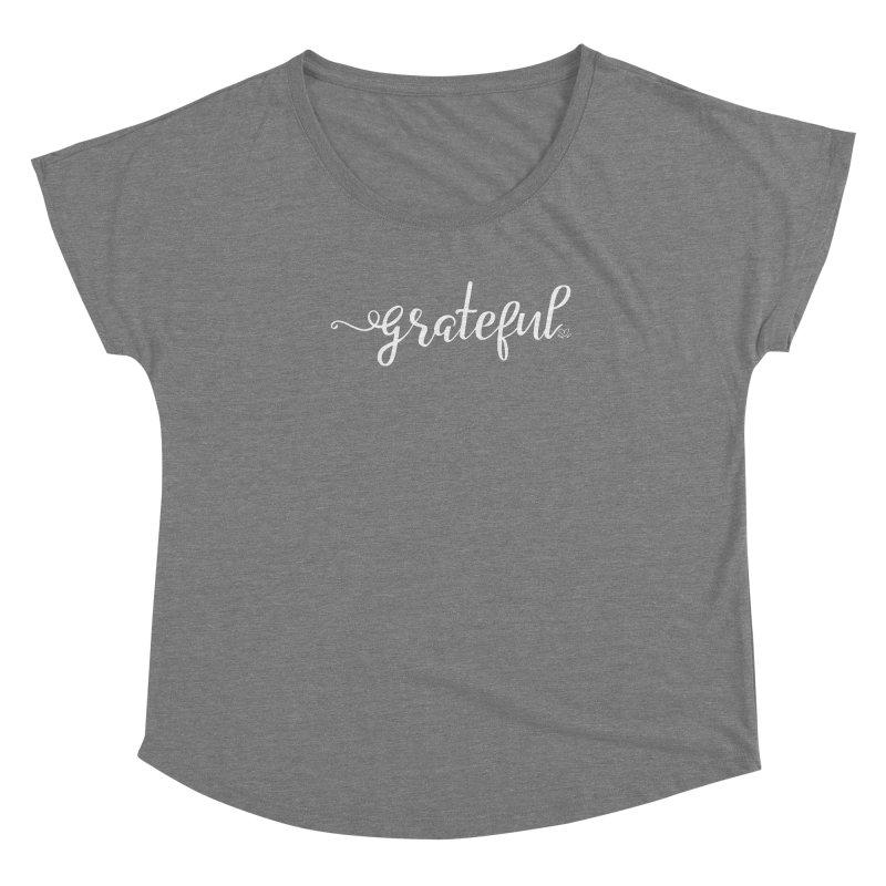 Grateful Women's Scoop Neck by Crystalline Light