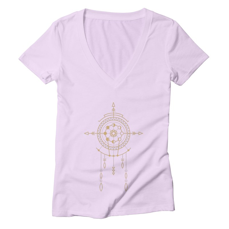 Moon Cycle Totem Women's V-Neck by Crystalline Light
