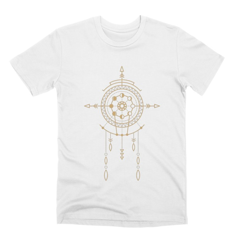 Moon Cycle Totem Men's T-Shirt by Crystalline Light