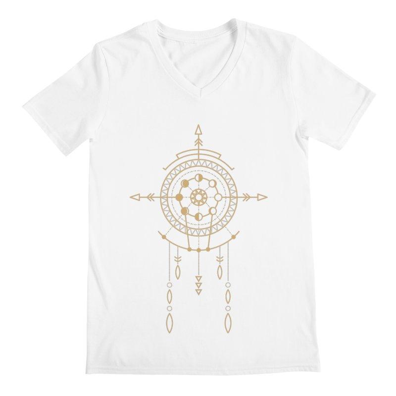 Moon Cycle Totem Men's V-Neck by Crystalline Light