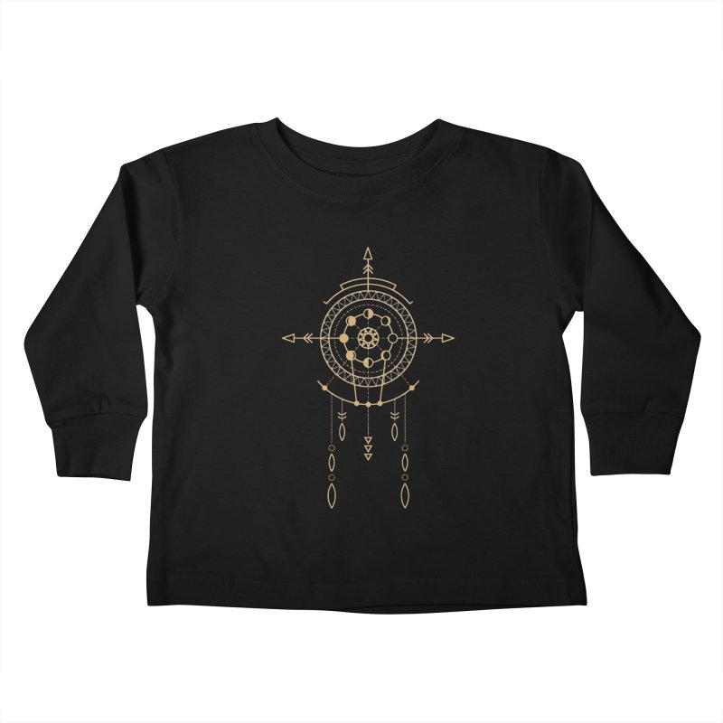 Moon Cycle Totem Kids Toddler Longsleeve T-Shirt by Crystalline Light