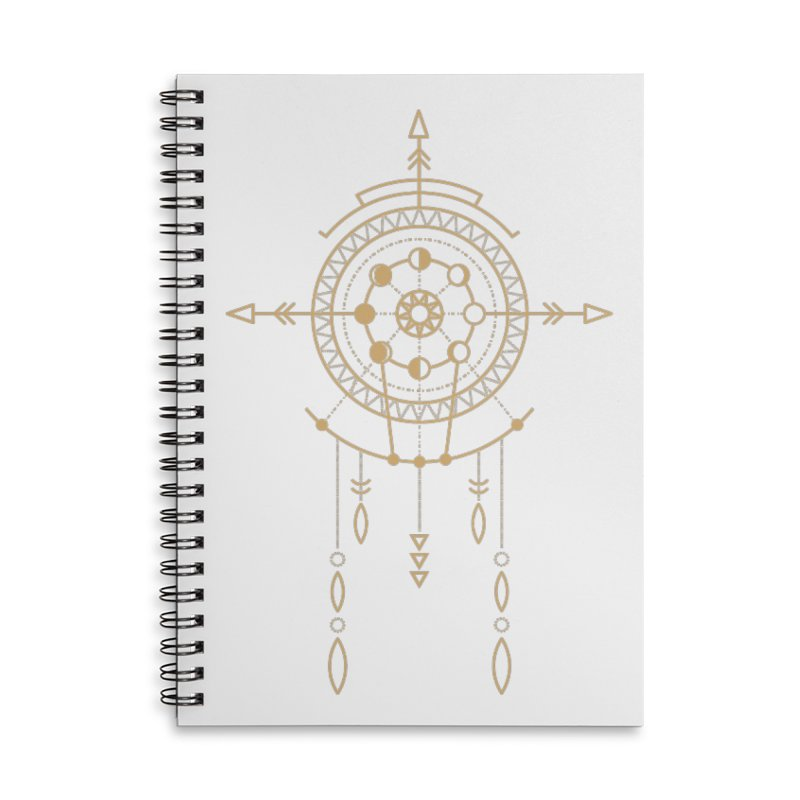 Moon Cycle Totem Accessories Notebook by Crystalline Light