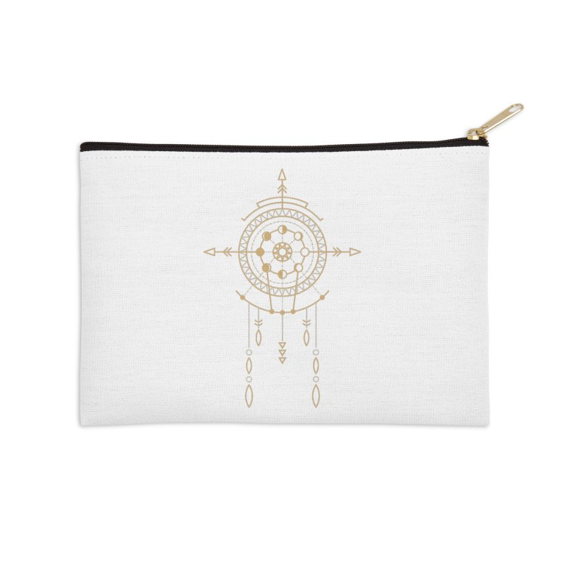 Moon Cycle Totem Accessories Zip Pouch by Crystalline Light