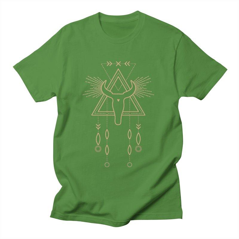 Magical Skull Totem Men's T-Shirt by Crystalline Light