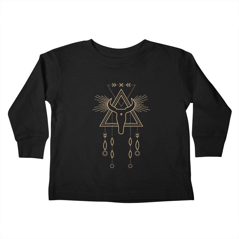 Magical Skull Totem Kids Toddler Longsleeve T-Shirt by Crystalline Light