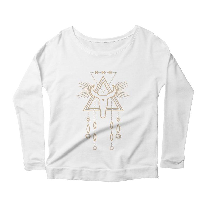 Magical Skull Totem Women's Longsleeve T-Shirt by Crystalline Light