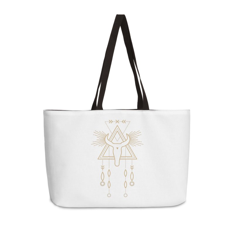 Magical Skull Totem Accessories Bag by Crystalline Light