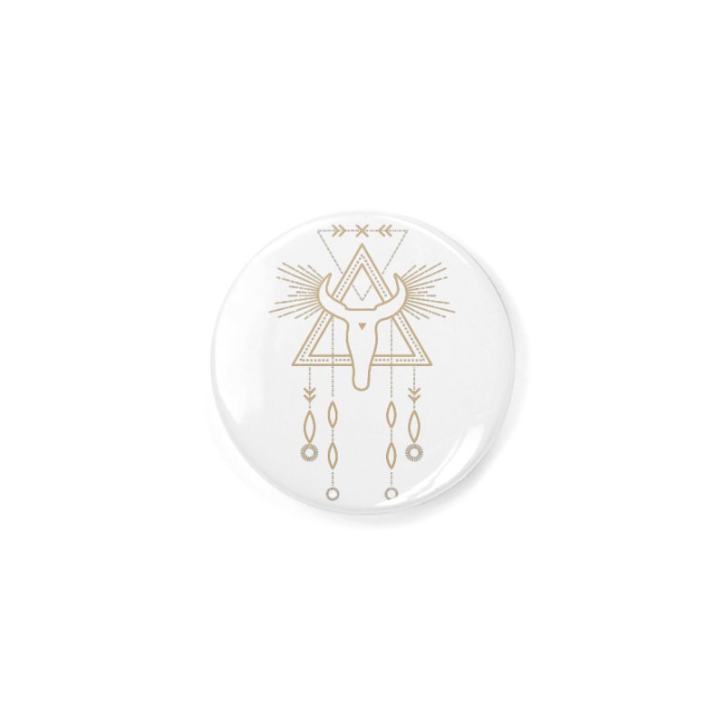 Magical Skull Totem Accessories Button by Crystalline Light