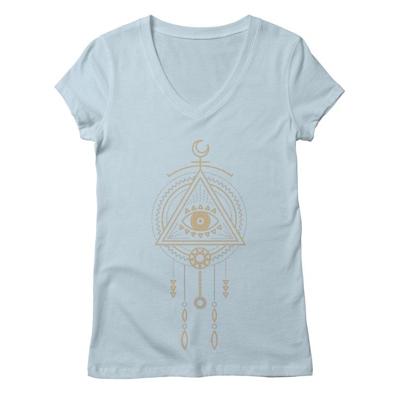 Magical Third Eye Totem Women's V-Neck by Crystalline Light
