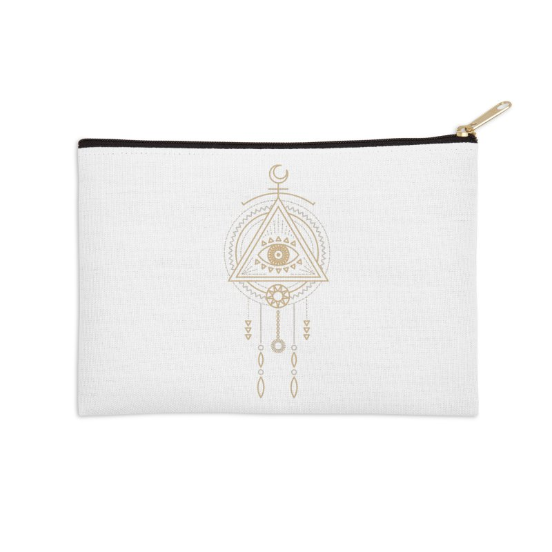 Magical Third Eye Totem Accessories Zip Pouch by Crystalline Light