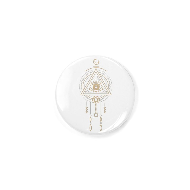 Magical Third Eye Totem Accessories Button by Crystalline Light