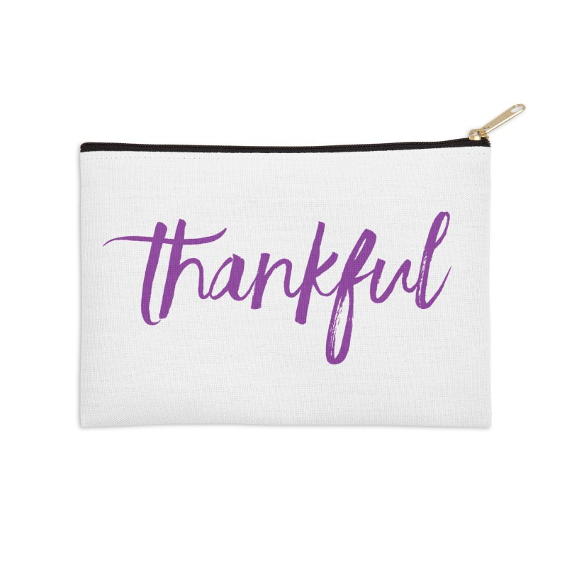 Thankful Accessories Zip Pouch by Crystalline Light