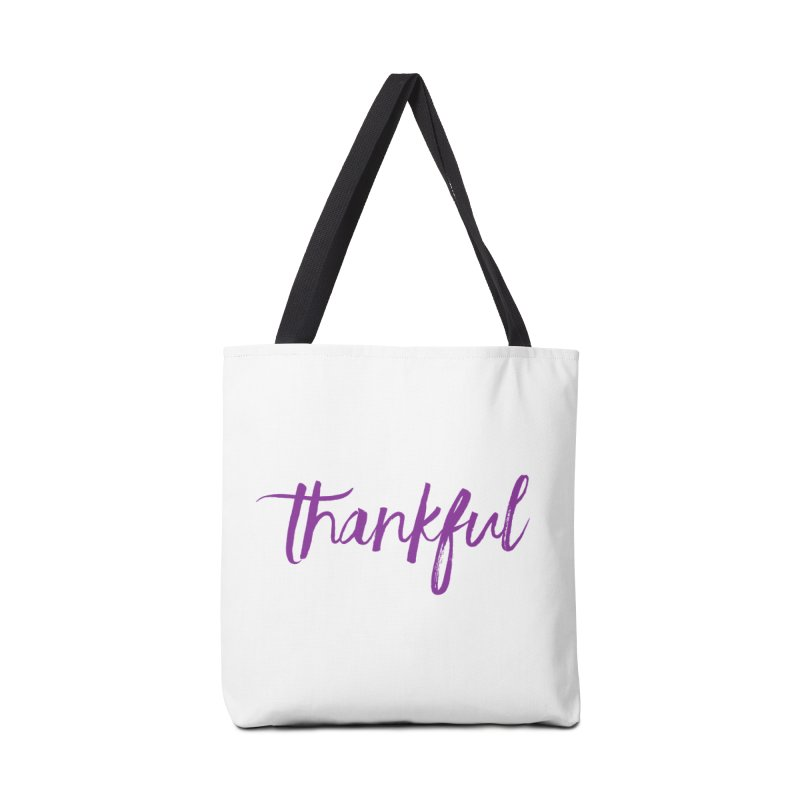 Thankful Accessories Tote Bag Bag by Crystalline Light